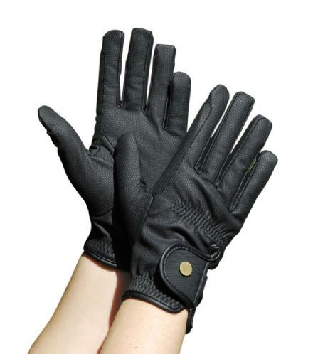 Leather-look Winter Gloves